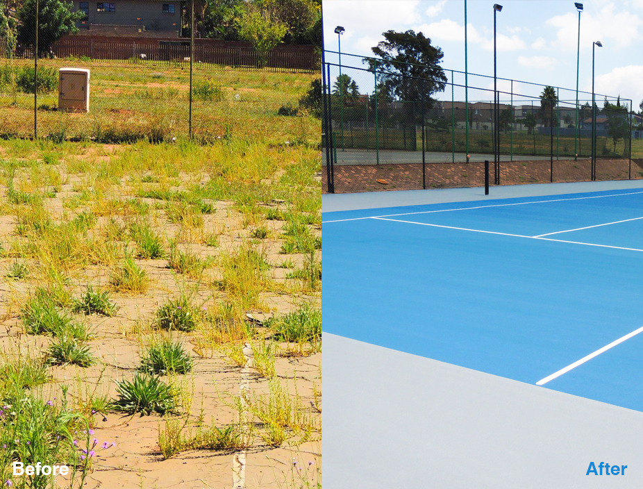 Landmark project serves up new Tennis court for Vereeniging community